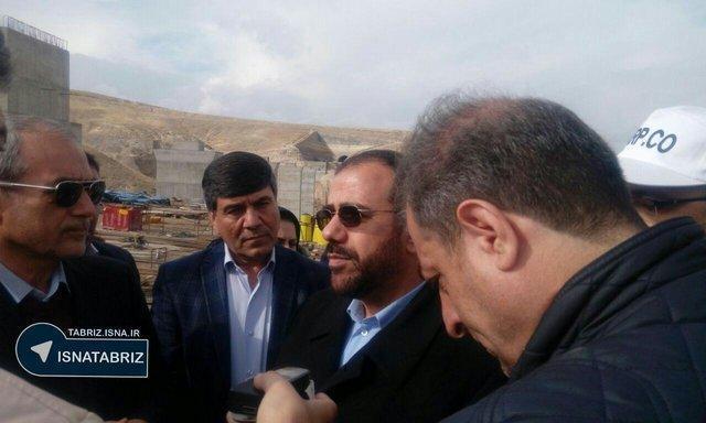 بازدید معاون پارلمانی رئیس جمهور از خط آهن بستان آباد - تبریز