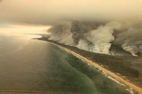 دود عظیم آتش سوزی های استرالیا از شیلی و آرژانتین قابل رویت است
